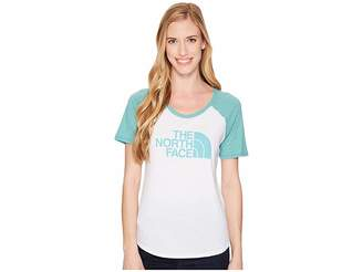 The North Face Short Sleeve 1/2 Dome Graphic Tri-Blend Baseball Tee Women's T Shirt