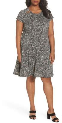 MICHAEL Michael Kors Boho Block Print A-Line Dress