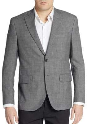 Saks Fifth Avenue Regular-Fit Wool Two-Button Sportcoat