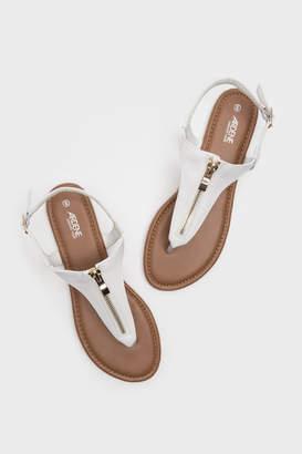 Ardene Zip T-Strap Sandals