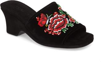 Opening Ceremony Sally Embroidered Slide Sandal