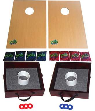 DAY Birger et Mikkelsen Yolo Sports Lawn Game Duo Cornhole and Washer and Ring Toss Set