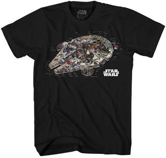 Star Wars Novelty T-Shirts Millennium Reveal Graphic Tee