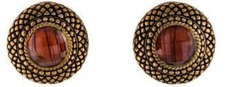 Stephen Dweck Quartz & Abalone Doublet Clip-On Earrings