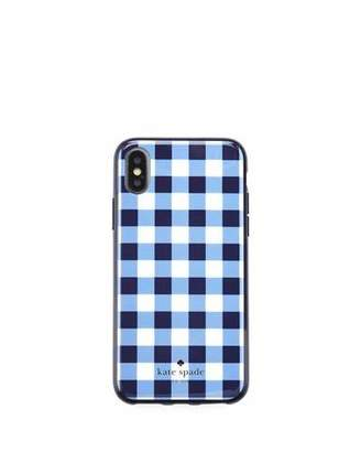 Kate Spade gingham resin phone case for iPhone® X
