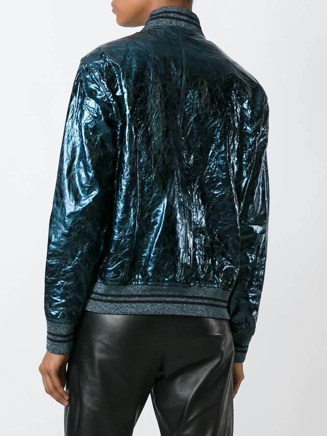 Diesel Black Gold cracked effect bomber jacket