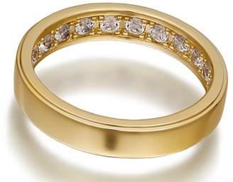 Openjart Sapphires Inside Women's Solid Wedding Ring