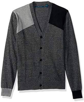 Perry Ellis Men's Colorblock Cardigan Sweater