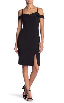 Bebe Off-the-Shoulder Crepe Dress