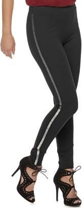JLO by Jennifer Lopez Women's Embellished Ponte Midrise Leggings