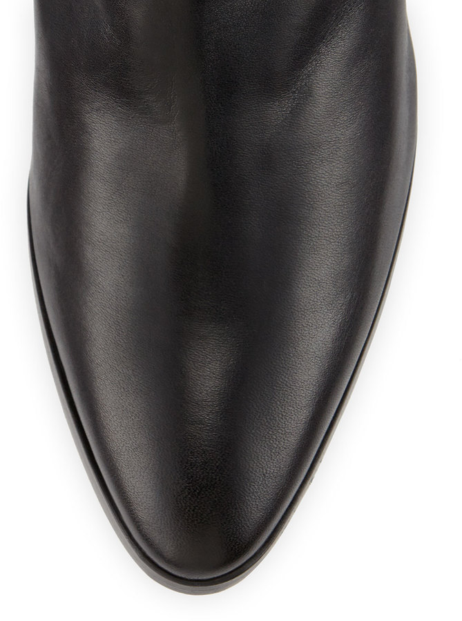 Manolo Blahnik Knight Ruched Leather Boot