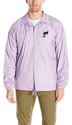 Obey Men's Wake up Consume Repeat Classic Coaches Jacket