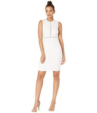 Nicole Miller Cotton Metal Ruched Dress