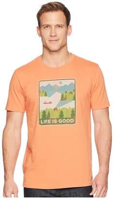 Life is Good Minimalist Lake Crusher Tee Men's T Shirt