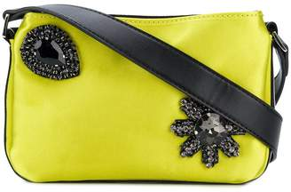 Pinko brooch embellished shoulder bag