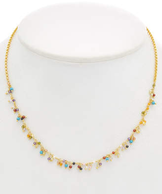 Chan Luu 18K Over Silver Turquoise & Crystal Necklace