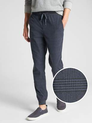 Gap Plaid Twill Joggers with GapFlex