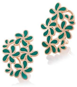 Breuning Rose Gold Plated Sterling Silver Flower Earrings