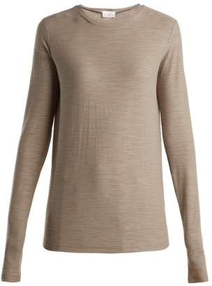 Raey Long Sleeved Slubby Cotton Jersey T Shirt - Womens - Grey