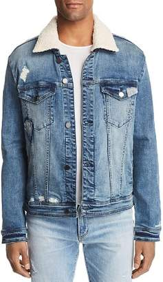 Blank NYC BLANKNYC Safe Shock Faux Shearling-Trimmed Denim Trucker Jacket - 100% Exclusive