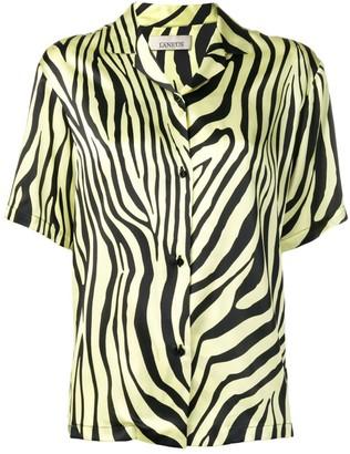 Laneus zebra print shirt