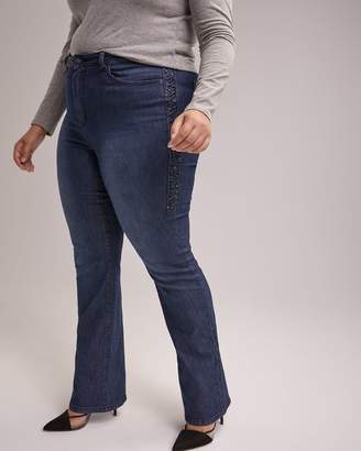 Petite Slightly Curvy Bootcut Leg Jean with Embellishment - d/C JEANS