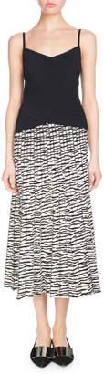 Proenza Schouler Wrap Cami Top and Tiger-Jacquard Knit Dress