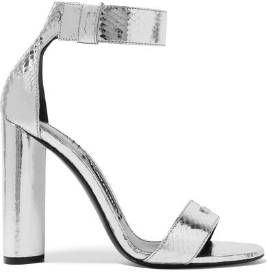 TOM FORD - Metallic Ayers Sandals - Silver