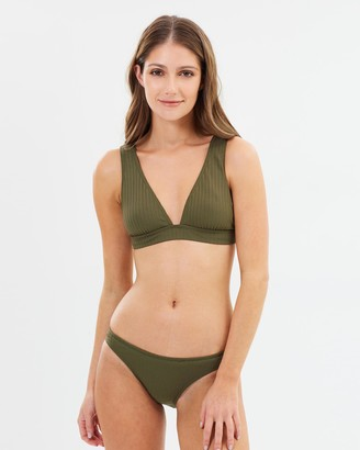 Seafolly Inka Rib High Cut Bikini Bottoms