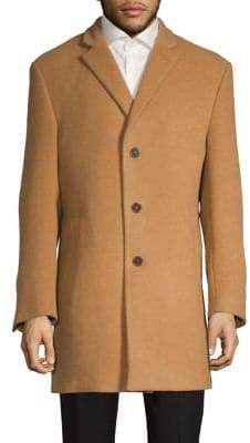 Calvin Klein X-Fit Slim Wool-Blend Coat