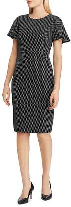 Ralph Lauren Polka-Dot Jacquard Dress