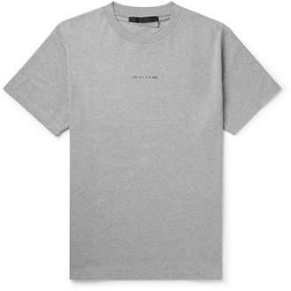 Alyx Logo-Print Melange Cotton-Blend Jersey T-Shirt