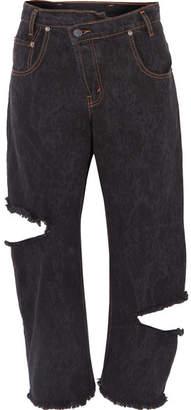 Monse Distressed Boyfriend Jeans - Black