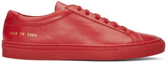 Common Projects Red Original Achilles Low Sneakers