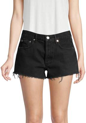 A Gold E Agolde Parker Vintage Cut-Off Denim Shorts
