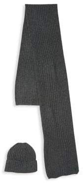 Polo Ralph Lauren Classic Ribbed-Knit Scarf and Hat Set