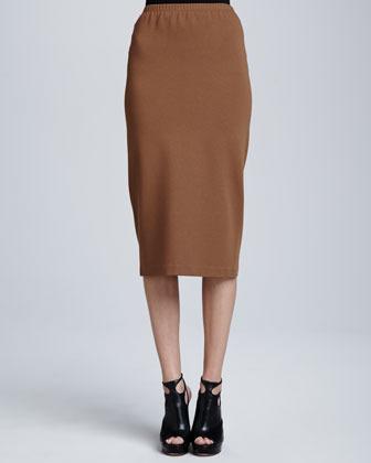 Lafayette 148 New York Punto Milano Over-the-Knee Skirt
