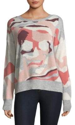 360 Cashmere Camouflage Skull Sweater
