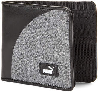 Puma Black & Grey Blueprint 2.0 Billfold Wallet