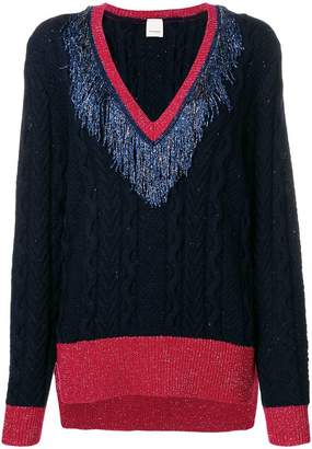 Pinko tinsel fringe lurex sweater