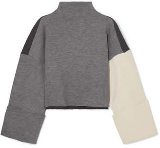 Parker REJINA PYO Color-block Ribbed-knit Sweater