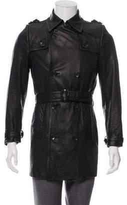 Balenciaga Double-Breasted Leather Jacket