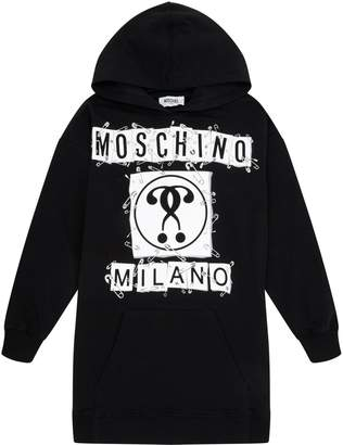 Moschino Safety Pin Logo Hoodie Dress
