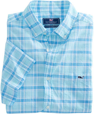 Vineyard Vines Short-Sleeve Flat Point Plaid Classic Tucker Shirt