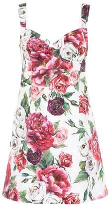 Dolce & Gabbana Cotton and silk-blend minidress
