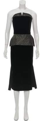 Roland Mouret Velvet Peplum Dress Black Velvet Peplum Dress