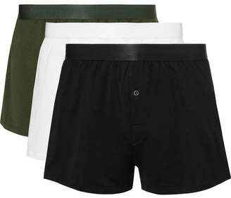 CDLP Three-Pack Cotton-Jersey Boxer Shorts