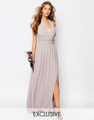 TFNC WEDDING Halter Chiffon Maxi Dress $73 thestylecure.com