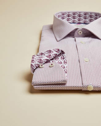 Ted Baker WROXHAM Micro dot Endurance cotton shirt