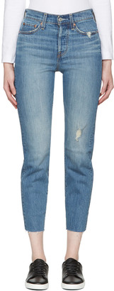 Levi's Blue Wedgie Fit Jeans $105 thestylecure.com